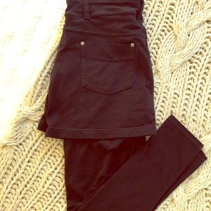 Athleta leggings with attached skirt.